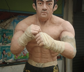 Kick Boxer statue, One of Thailands favorite sports