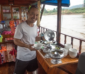 Rit and our lunch on the Mekong Cruise