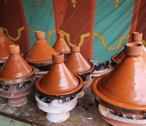 We'll see a lot of these - Tagines at Lakshiba