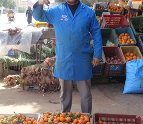 Orange seller at Lakshiba