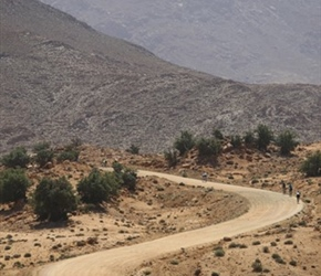 Zig zag track towards Tafraoute