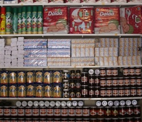 Goods for sale at the local shop