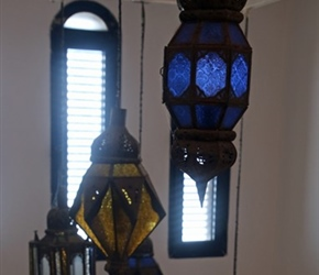 Lights in accommodation at Sidi Ifni