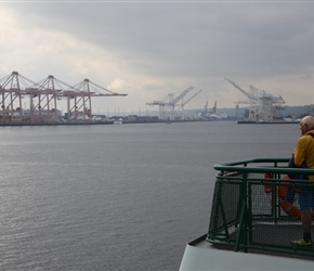 Keith bidding farewell to Seattle Port