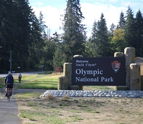 Olympic National Park Sign