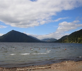 Beach at western end of Crescent Lake