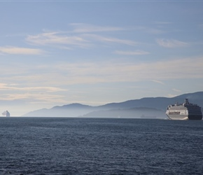 Cruise liners waiting at Vancouver