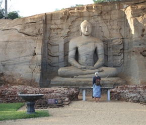 Chris Horton and the buddha hewn out of the rock