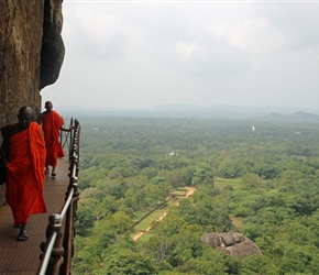 Monks at Sigiriya