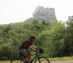 Philip Ellis passes Sigiriya Rock Fortress