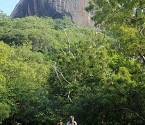 John Moares with Sigiriya looming behind