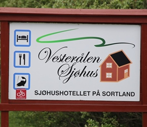 The huts that we stayed in at Sortland - Vesteralan Sjohus