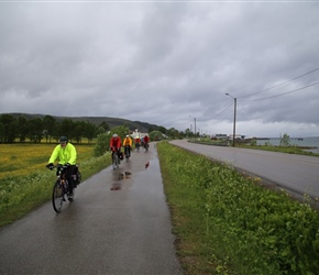 Setting out from Sortland in the rain