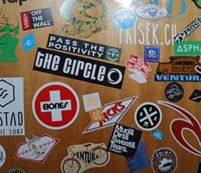 Stickers at Arctic Surf