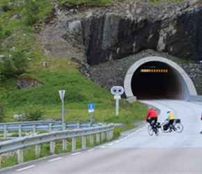 many tunnels built, but the old road remains hugging the coast, great for cyclists