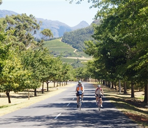 Tim and Cherry start the Franschhoek Pass