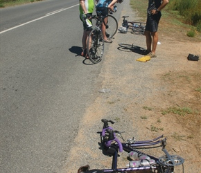 We had a lot of punctures in this area, there were some very long thorns