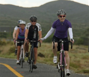 Dianne, Bruce and Cherry on R60, 20km from Nuy Farm