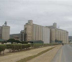 Huge grain silo at Bredesdorp
