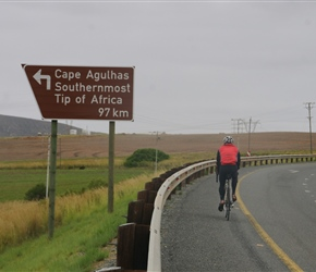 Steve heads for Cape Agulhas, the southern most tip of Africa