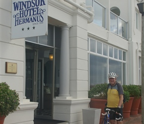 Gerard outside the Windsor Hotel