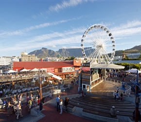 Ferris wheel at the docks in Cape Town