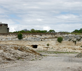 Limestone quarry where the inmates checked the rock away