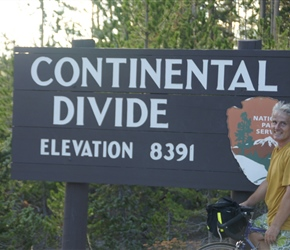 Neil makes it over the Continental Divide