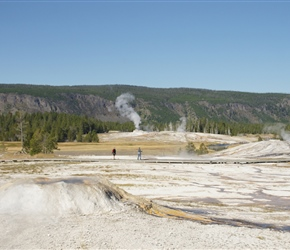 Old faithful Geyser Basin