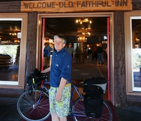 Neil outside the Old Faithful Inn