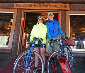 Barney and Linda at the Old Faithful Inn