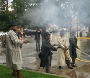 Gunfight at Cody, staged during the summer by volunteers