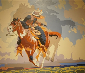 A Flight From Destiny, oil on canvas, painted by Bill Schenck in 1994