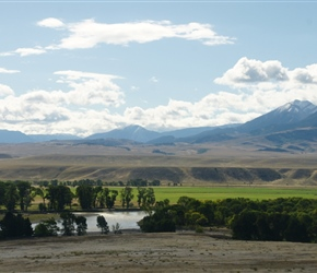 Looking across the Yellowstone River