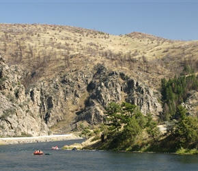 Rafting on the Madison River