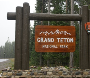 Re-entering Grand Teton National Park