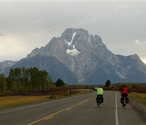 Phil and Ian head towards the Tetons