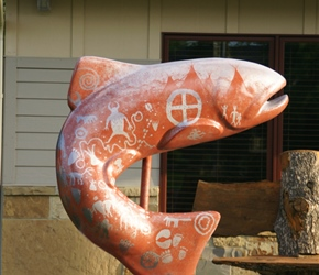 Fish statue in Ennis