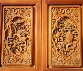 Decorated doors on the final temple