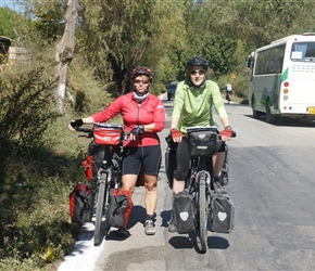 Two Dutch Cyclists whom we met at coffee stop
