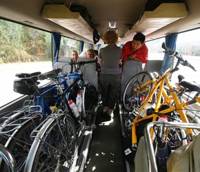 Bike up bus packed with bikes