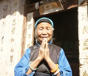 Old lady at temple