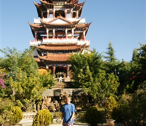 Neil in front of pagoda