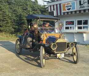 Model T ford still in action at Rockdale