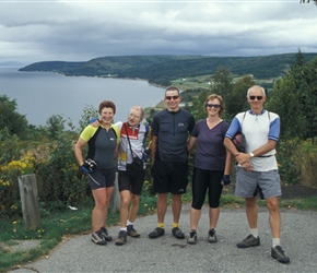 Linda, Colin, Paul, Pauline and John at Lookout