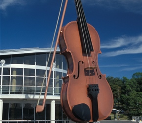 Yes this really was a very large violin, present outside at Sydney