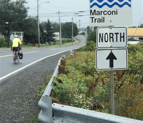 Another of the Nova Scotia marked trails, in this case The Marconi Trail