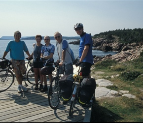 Neil, Linda, Colin, John and Paul at coastal lookout