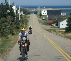 Colin and Linda exit Margaree Harbour