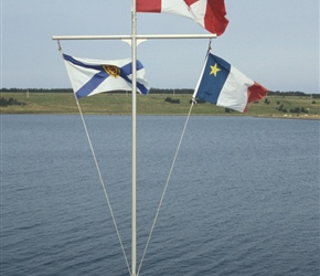 Nova Scotia, Canadian and Arcadienne Flags